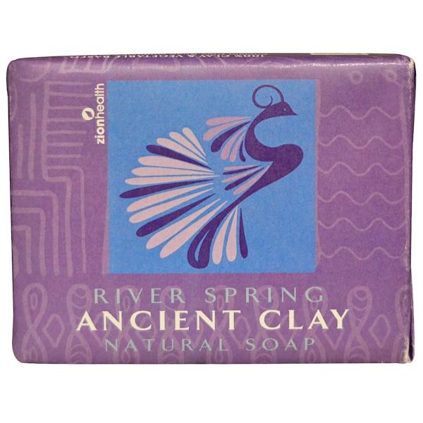 Zion Health, Натуральное мыло из древней глины, весенняя река, 300 г (10,5 унций) (Discontinued Item)