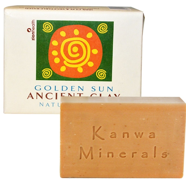 Zion Health, Ancient Clay Natural Soap, Golden Sun, 10.5 oz (300 g) (Discontinued Item)