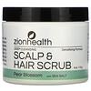 Zion Health, Deep Cleansing Scalp & Hair Scrub, Pear Blossom with Sea Salt, 4 oz (113 g)