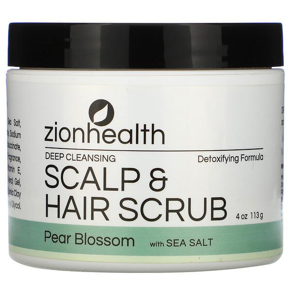 Deep Cleansing Scalp & Hair Scrub, Pear Blossom with Sea Salt, 4 oz (113 g)