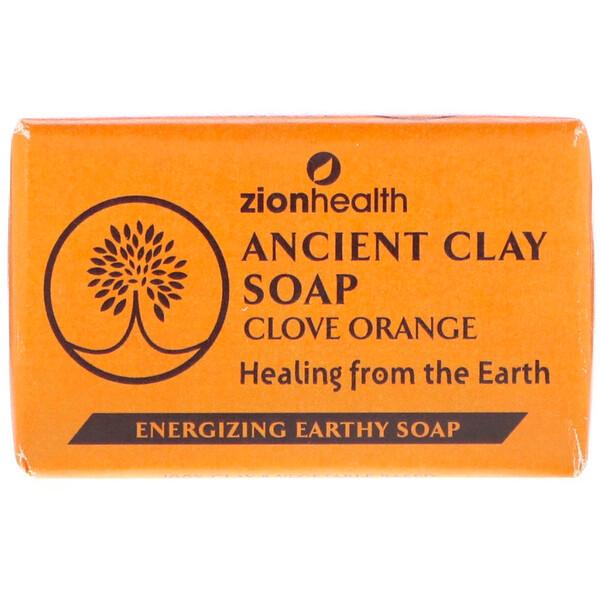 Древнее глиняное мыло, гвоздика и апельсин, 6 унц. (170 г)