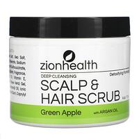 Zion Health, Deep Cleansing Scalp & Hair Scrub with Argan Oil, Green Apple, 4 oz (113 g)