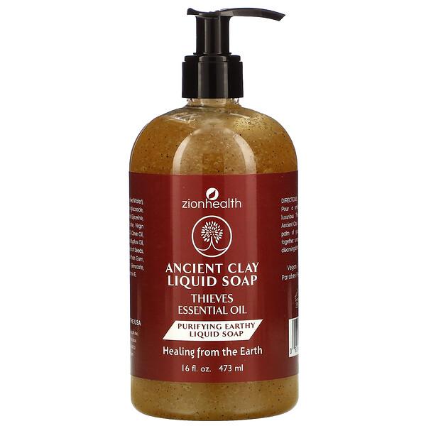 Ancient Clay Liquid Soap, Thieves Essential Oil, 16 fl oz (473 ml)