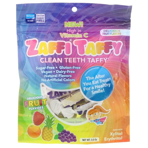 Ириски Zaffi, ириски для чистки зубов, отличные вкусы, 3,0 унции