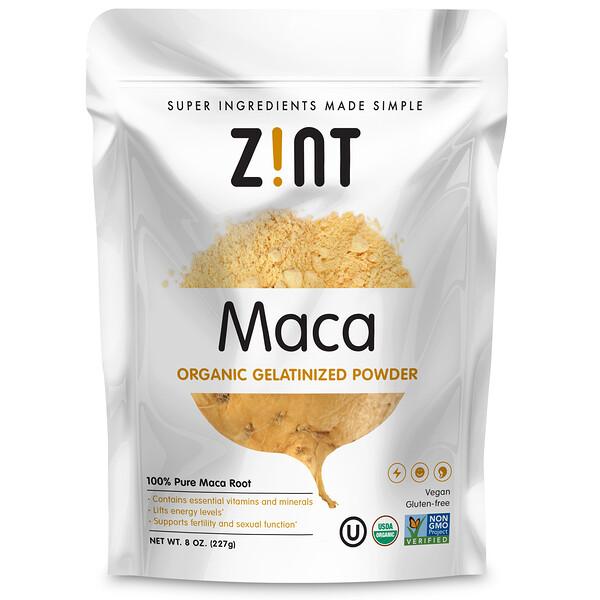 Zint, Мака, Органический желатинизированный порошок, 8 унц.(227 г)