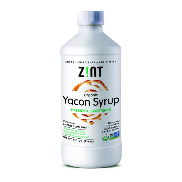 Zint, Органический сироп из якона, пребиотический заменитель сахара, 8 жидких унций (236 мл)