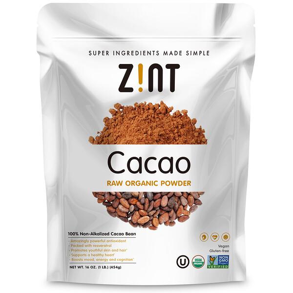 Сырой органический порошок какао, 454г (16 унций)