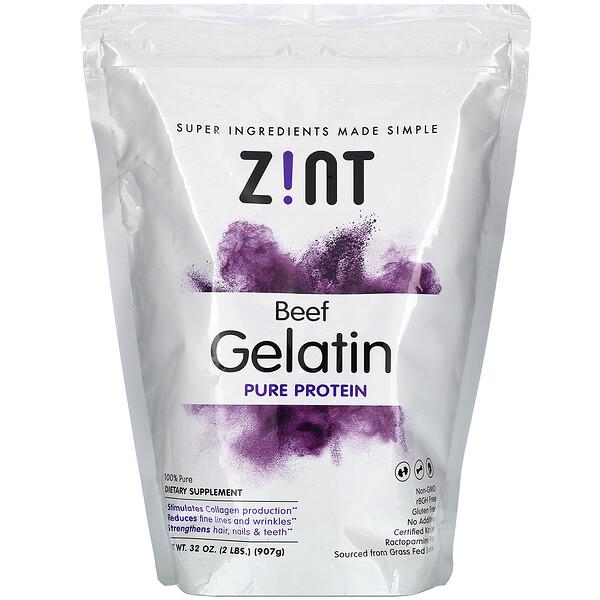 Zint, Beef Gelatin, Pure Protein, 32 oz (907 g)