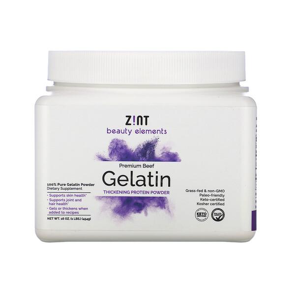 Zint, Premium Beef Gelatin, Thickening Protein Powder, 16 oz (454 g)