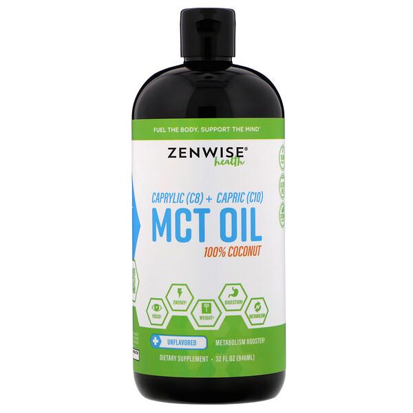 Каприловое (C8) + каприновое (C10) масло из среднецепочечных триглицеридов, 100%-ный кокос, без ароматизаторов, 946 мл