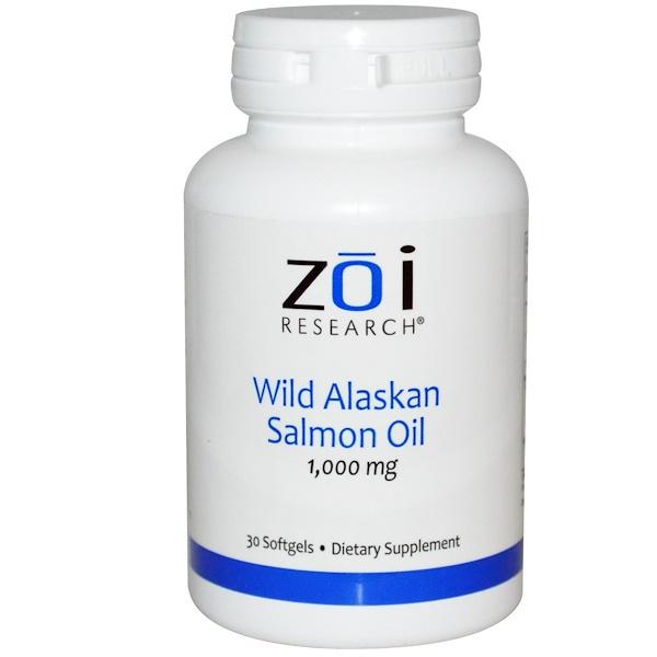 ZOI Research, Масло дикого аляскинского лосося, 1000 мг, 30 мягких желатиновых капсул (Discontinued Item)