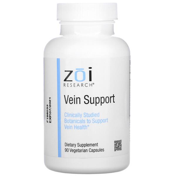 ZOI Research, Поддержка для вен, 90вегетарианских капсул