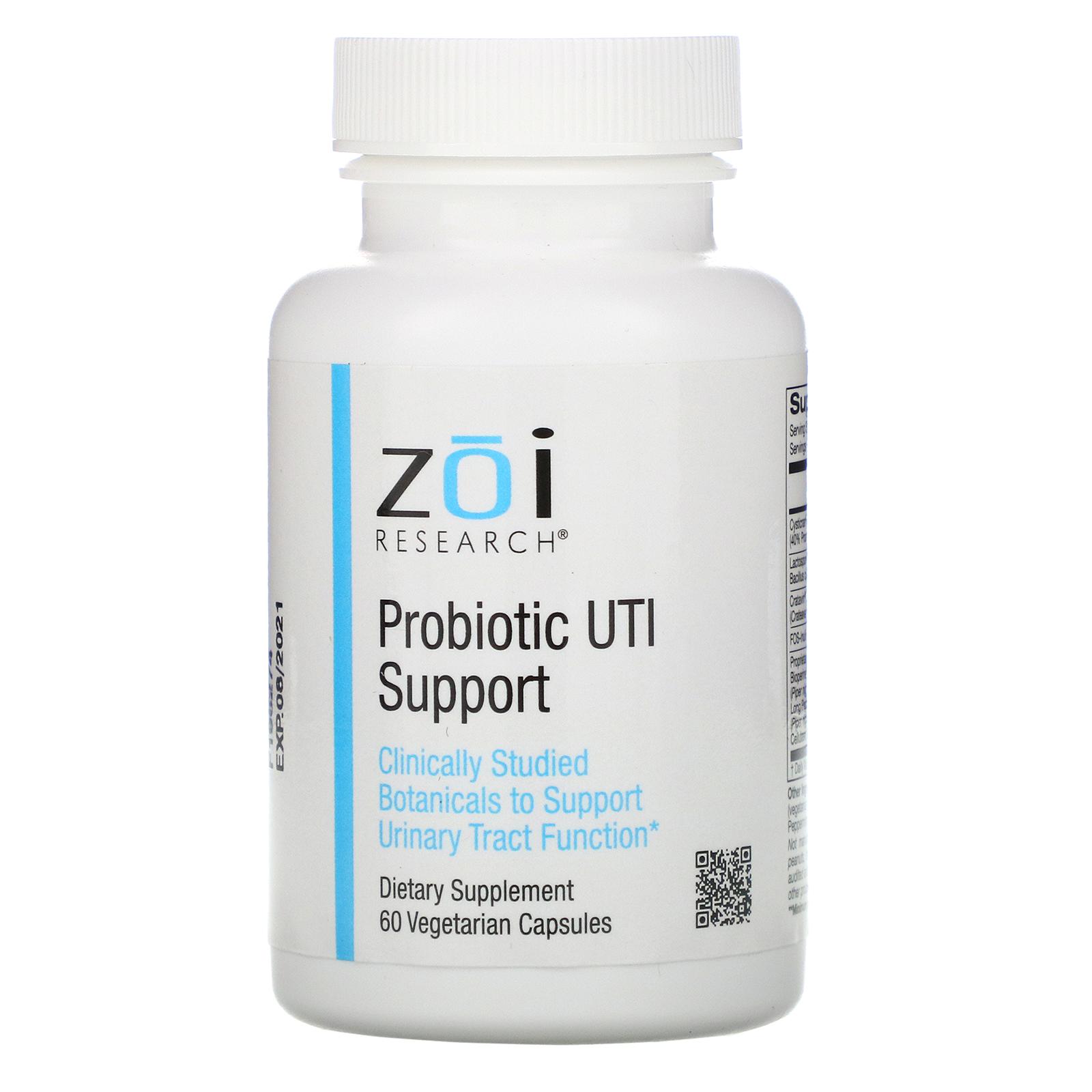 ZOI Research, Поддержка уровня пробиотиков при ИМП, 60растительных капсул